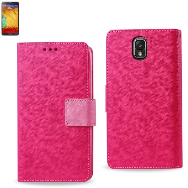 REIKO SAMSUNG GALAXY NOTE 3 3-IN-1 WALLET CASE IN HOT PINK