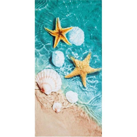 3D Shells 30x60 Brazilian Velour Beach Towel