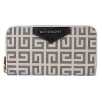 Givenchy Black Ivory Antigona Long Zip Around Wallet