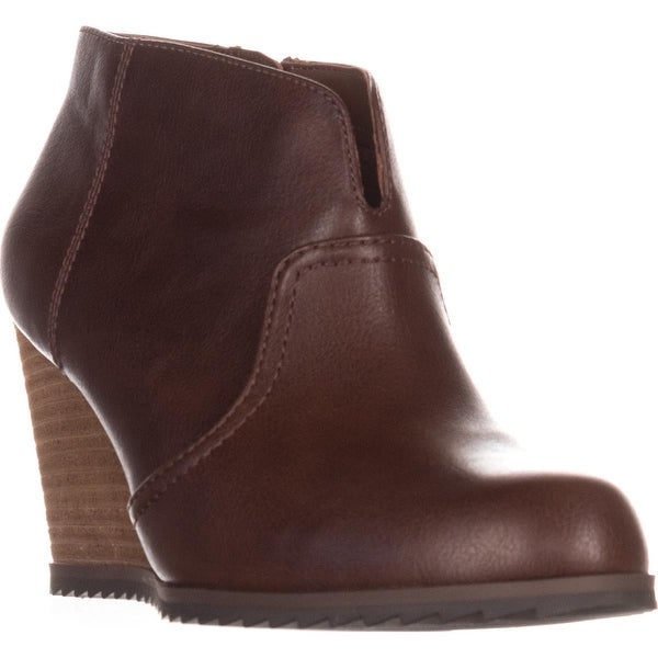 Dr. Sholl's Inform Wedge Ankle Boots, Copper Brown