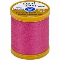 Coats 1750 Dual Duty Plus Jean & Topstitching Thread 60yd-Hot Pink