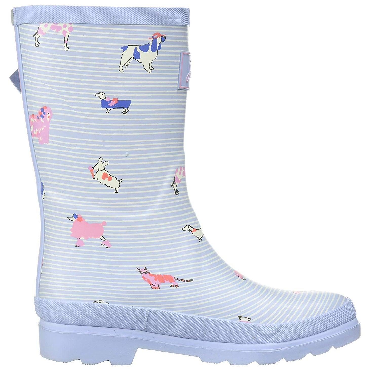 Joules Kids Jnr Welly Print Rain Boot