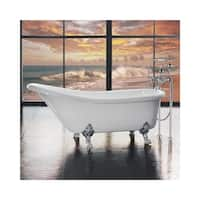 """Miseno MT6630FSC 66-1/8"""" Slipper Style Soaking Bathtub for Free Standing Installations with Reversible Drain - Clawfeet and"""