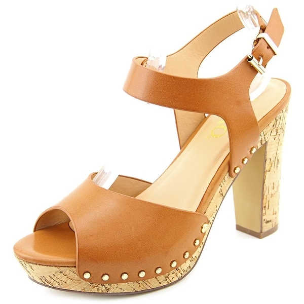 XOXO Mindy Women  Open Toe Synthetic Tan Platform Sandal