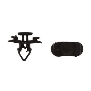 100pcs Black 8mm Hole Dia Plastic Rivets Fastener Retainer Push Type Clips