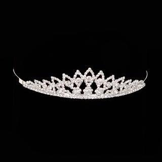 Cinderella Couture Girls Silver Rhinestone Royal Flower Girl Tiara Headpiece