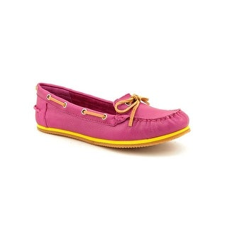 Lucky Brand Annie Women Moc Toe Leather Boat Shoe