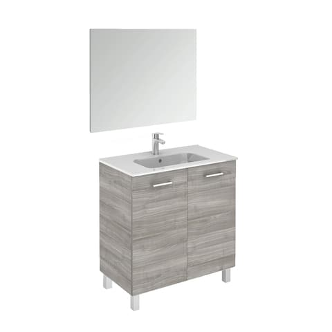 """WS Bath Collections Logic 80 Pack 1 Logic Vanities 18"""" Free Standing"""