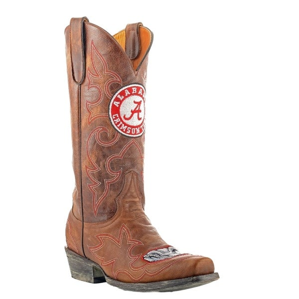 Gameday Boots Mens College Team Alabama Crimson Tide Brass