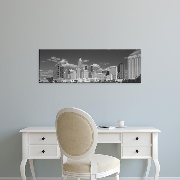 Easy Art Prints Panoramic Image 'Low angle view of skyscrapers in a city, Charlotte, North Carolina, USA' Canvas Art