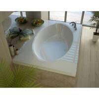 "Avano AV4272VCS St.Croix 70-1/2"" Acrylic Soaking Bathtub for Drop-In Installations with Center Drain - White"