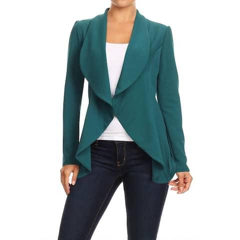 Women's Casual Office Work Solid Basic Blazer Jacket