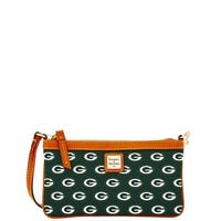 Dooney & Bourke NFL Green Bay Packers Large Slim Wristlet (Introduced by Dooney & Bourke at $88 in Aug 2016)