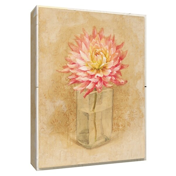 """PTM Images 9-154588 PTM Canvas Collection 10"""" x 8"""" - """"Dahlia Blossom in Glass"""" Giclee Dahlias Art Print on Canvas"""