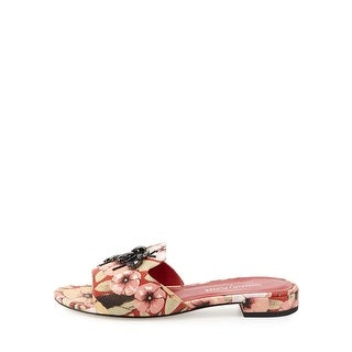 Donald J Pliner Womens fairy Leather Open Toe Casual Slide Sandals
