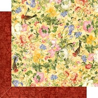 "Floral Shoppe Double-Sided Cardstock 12""X12""-Golden Serenity"
