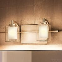 "Luxury Modern Bathroom Vanity Light, 6""H x 13""W, with Posh Style, Brushed Nickel Finish"