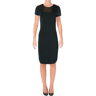Lauren Ralph Lauren Womens Wear to Work Dress Mesh Inset Short Sleeves