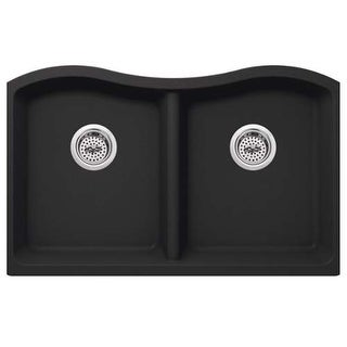 "Miseno MGR33205050 Carolina 32-1/2"" Double Basin Undermount Granite Composite Ki"