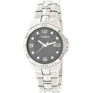 Timex Men's T2P261 Silver Stainless-Steel Quartz Fashion Watch