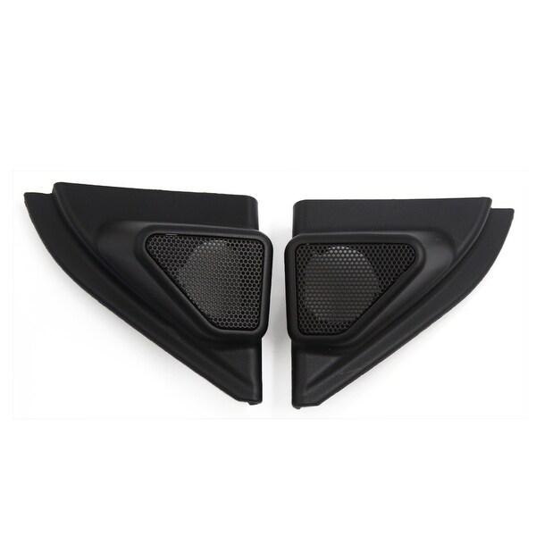 2 Pcs Black Plastic Car Horn Trumpet Dustproof Cover for 2014 Toyota Corolla