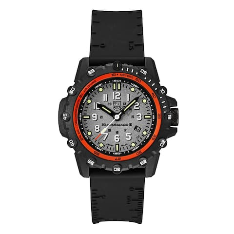 Luminox Men's XS.3301 Commando Frogman Black Rubber Strap Watch