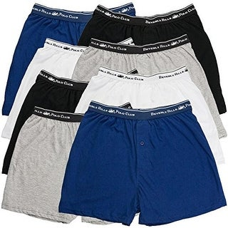 Beverly Hills Polo Club Mens Knit 8Pk Boxers - XXL