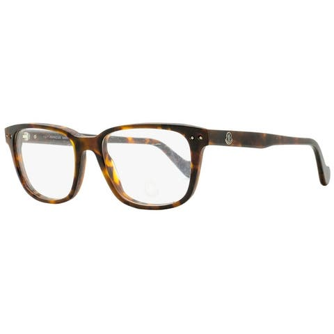 Moncler ML5015 052 Mens Dark Havana 53 mm Eyeglasses - Dark Havana