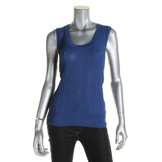 Anne Klein Womens Pullover Top Sleeveless Ribbed