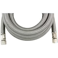 Certified Appliance Im96Ss Braided Stainless Steel Ice Maker Connector (8Ft)