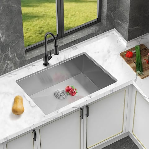 "27""x 18"" Kitchen Sink Undermount Stainless Steel Deep Single Bowl"