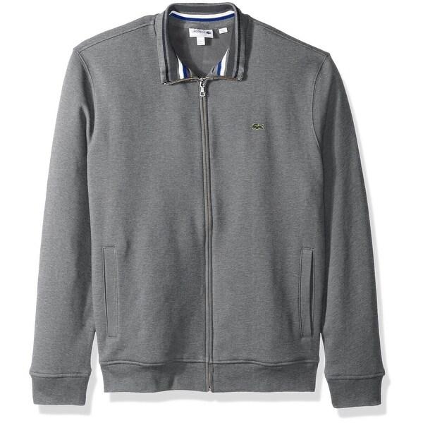 6a72e8719b Lacoste Dark Gray Heathered Mens Size 8 US 3XL Full Zip Sweater