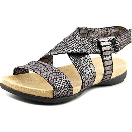 Naturalizer Ainsley Women Open-Toe Canvas Black Slingback Sandal
