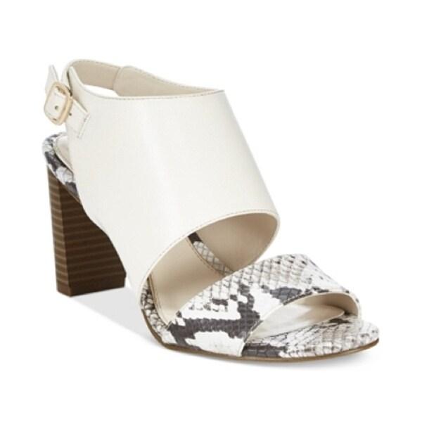 Alfani Womens Iddris Leather Open Toe Casual Slingback Sandals