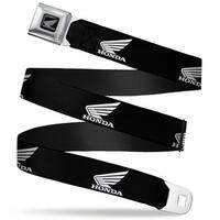 Honda Motorcycle Black Silver Honda Motorcycle Logo Black White Seatbelt Seatbelt Belt