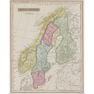 """""""Antique map of Sweden and Norway"""" Poster Print"""