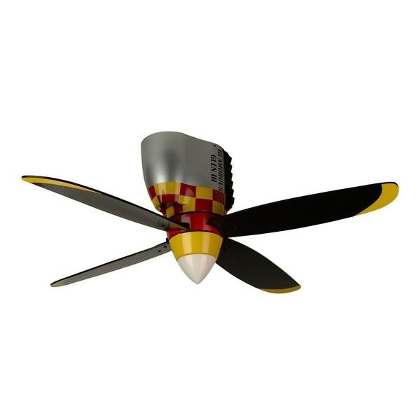 "Craftmade Glamorous Glen Youth Fans 48"" 4 Blade Flush Mount Indoor Ceiling Fan - Blades and Light Kit Included - glamorous glen"