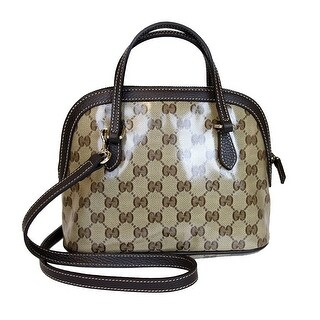 Gucci Mini Dome Beige/Brown Crystal Convertible Crossbody Satchel Bag