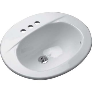 """Zurn Z5114 Countertop Lavatory Sink with 4"""" Centers from the Z5110 Series"""