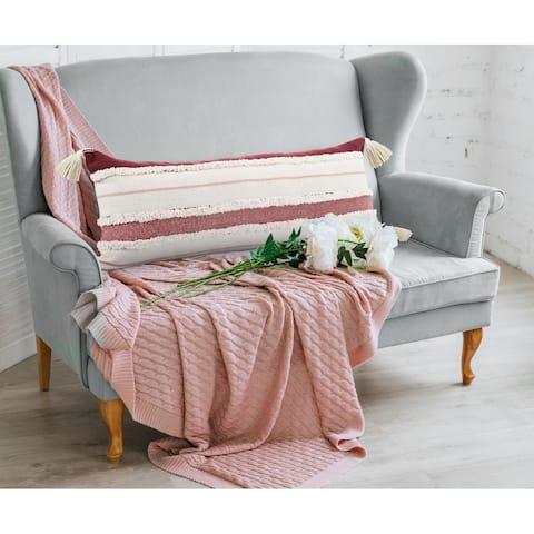 Garnet Quarry Striped Throw Pillow