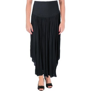 Free People Womens Maxi Skirt Sheer Side Slit
