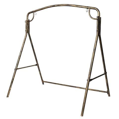 Outdoor Garden Heavy Duty Iron Swing Stand Frame Brush Gold