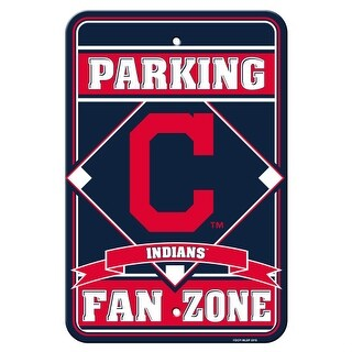 Fremont Die Inc Clevelands Indians Plastic Parking Sign Parking Sign
