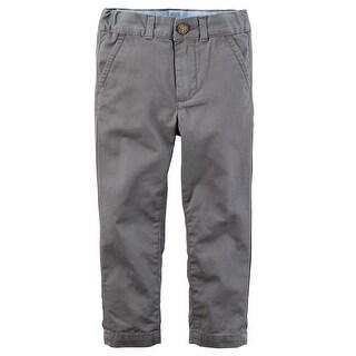 Carter's Little Boys' Twill Pants, 4-Toddler - gray