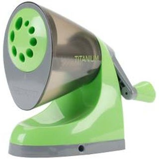 Green & Gray; Antimicrobial - Westcott Ipoint Titanium Bonded Pencil Sharpener