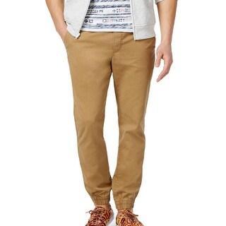 American Rag NEW Beige Mens Size Large L Pull-On Khakis Jogger Pants