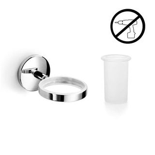 WS Bath Collections Spritz 52401+55003-G Wall Mounted Toothbrush Holder from the Spritz Glue Collection