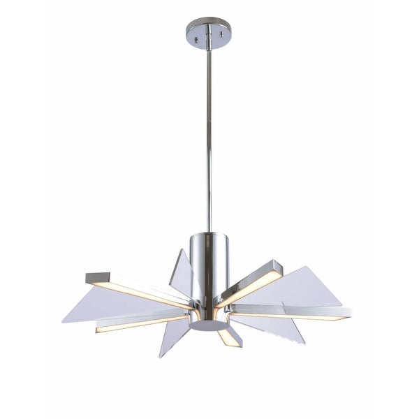 Kenroy Home 94100 Laney 25 Wide Integrated Led Chandelier Chrome N A Free Shipping Today 23058851