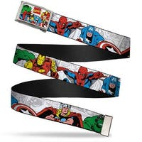 Marvel Comics Marvel Comics Logo W Characters Fcg Chrome Marvel Web Belt