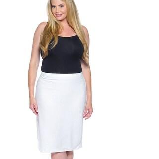 Ladies Fashion Plus Size White Pencil Skirt - Size - 3Xl